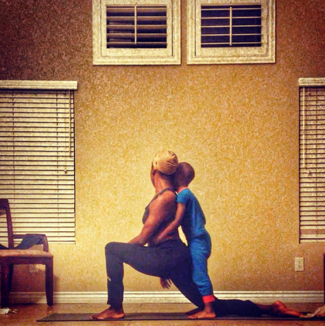 buterflisoldier@tayynicoleee tagged me to #stopdropandyoga. Thank you for the tag! Me and the little man this morning. I didn't even plan to take yoga pics today, but I saw your tag and decided to record my practice this morning and it was pretty awesome. Thanks again for the tag. Now I tag @haitianphoenix @bennyfeliz and @shreytilly to #stopdropandyoga #yoga #yogaismytherapy #yogaofcolor #blackgirlsdoyoga